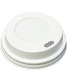 Coffee cup lids WHITE 80mm 50 pieces
