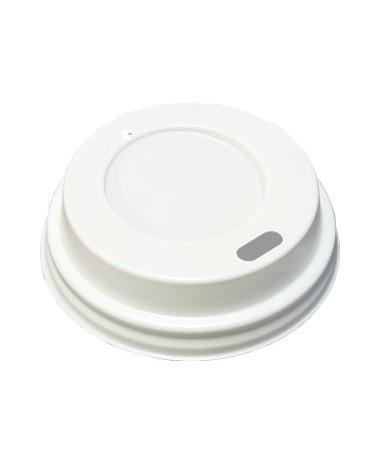 Deksel koffiebeker WIT 90mm 50 stuks