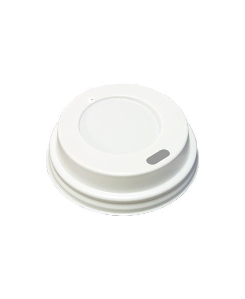 Coffee cup lids WHITE 90mm 50 pieces