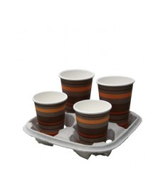 Carrying tray 4 cups 220 pieces