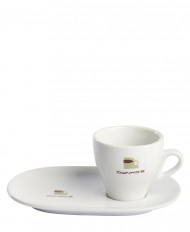 Tasse et sous tasse ovale Donko's Lungo