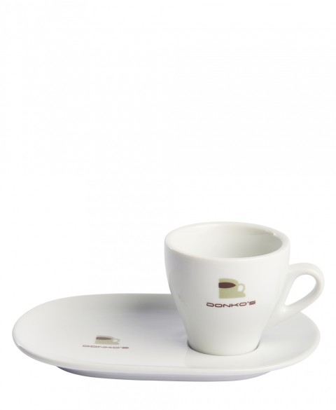 Cup and saucer oval Donko's Lungo
